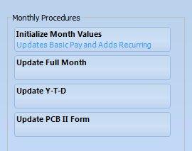 monthly procedures