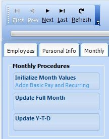 Monthly payroll procedure