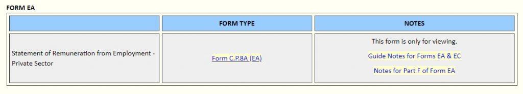 EA Form Download Website