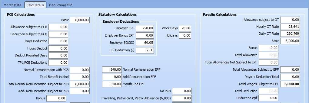 Salary Calculator functions